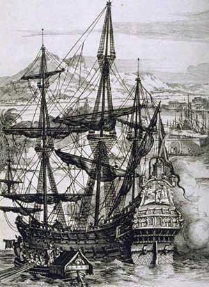 Spanish Galleon used to transport gold