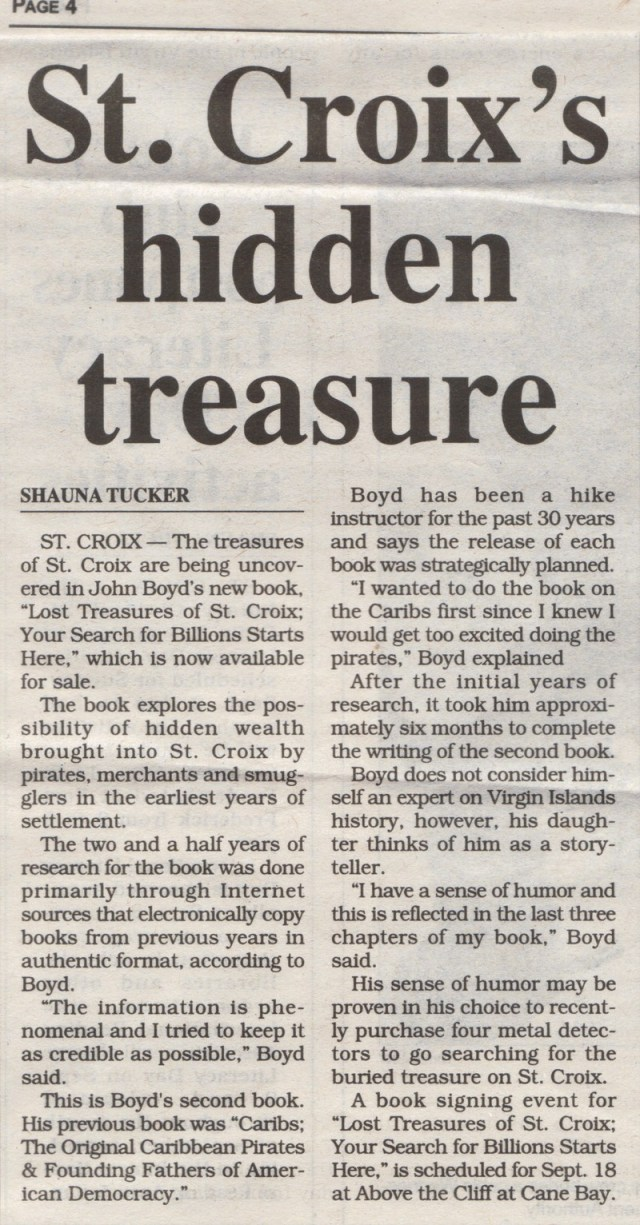 Lost Pirate Treasures of St. Croix