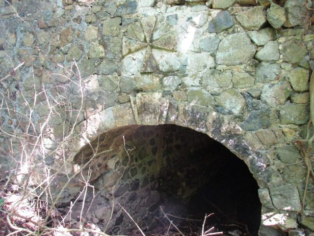 Bridge with Keystone in Arch and Maltese Cross above
