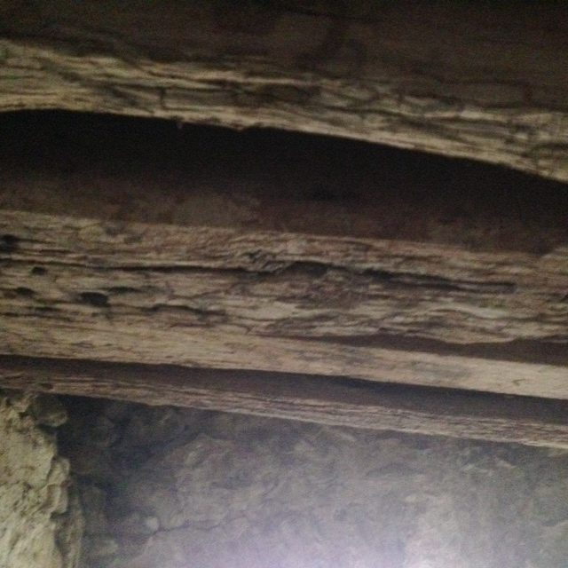 Underside of wooden Bridge